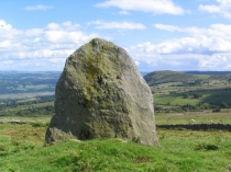 Picture of Standing Stone above the Conwy Valley