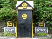 Picture of The AA box at Devil's Bridge Crossroads