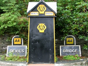 The AA box at Devil's Bridge Crossroads