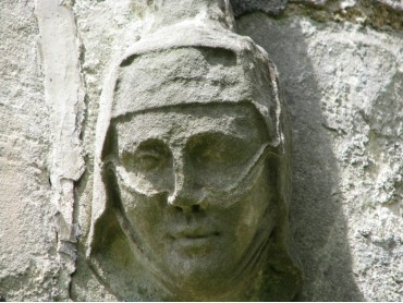Carved Stone Headstop Henllan Church