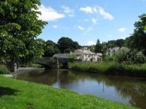 Picture of Llanfair Talhaiarn and the River Elwy