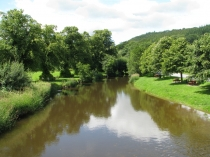 Picture of River Elwy at Llanfair Talhaiarn