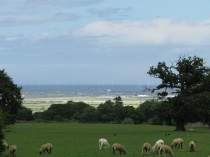 Picture of Rhyl from the Countryside