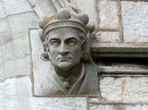 Picture of Male Headstop Carving on Marble Church