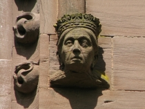 Picture of Stone Carving of Queens Head