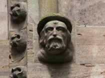 Picture of Monks Head on Leominster Church