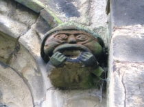 Picture of Grotesque Stone Carving on Welsh Church