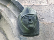 Picture of Stone Carving of Medieval Knight in Armour