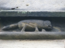 Picture of Carved Animals on Medieval Church