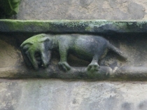 Picture of Carved Animal on Welsh Church