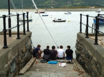 Picture of Fishing for Crabs in Barmouth