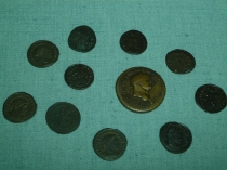 Picture of Roman Coins in Colwyn Bay Library