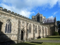 Picture of Bangor Cathedral South Wall and Crenellations