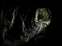 Picture of Underground Rail Track in Welsh Mine