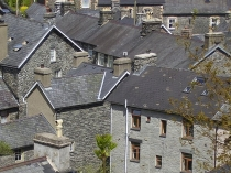 Picture of Slate Roofs on Welsh Village of Corris
