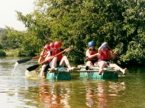 Picture of Raft Building on the River Wye