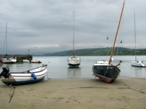 Picture of Boats on Harbour Beach in New Quay, Wales