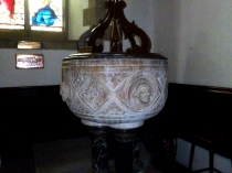 Picture of Carved Font in St Collen's Church