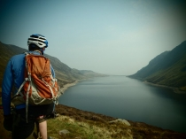 Mountain Biking at Llyn Cowlyd in Snowdonia 