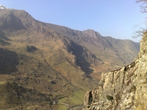 Picture of View down Llanberis Pass