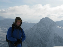 Picture of A shot of Leon in front of Tryfan