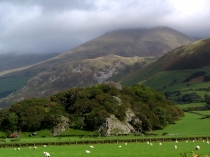 Picture of Castell-y-Bere and Cadair Idris