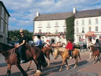 Picture of Pony Trekkers in the Square Llanwrtyd Wells
