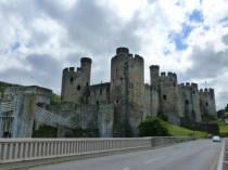 Picture of Conwy Castle and Suspension Bridge