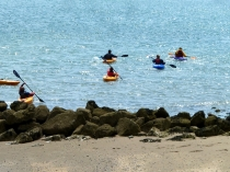 Picture of Kayaks in the Bay of Colwyn