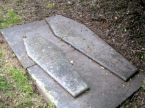 Picture of Coffin Shaped Tombstones