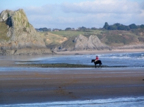 Picture of Horse and Rider on the Gower