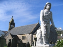 Picture of Lifeboat Men Memorial at St Cattwgs Church