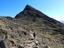 Picture of Walker on the Snowdon Horseshoe Path