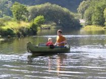 Picture of Canoeing on the River Lledr