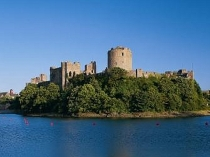 Picture of Pembroke Castle and Moat