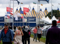 Picture of Flags over the Maes at Eisteddfod
