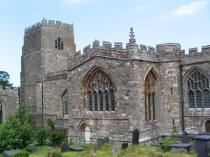 Picture of South wall of St Beuno's Church