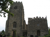 Picture of West Tower of Clynnog Fawr Church