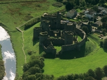 Picture of Aerial View of Kidwelly Castle