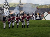 Picture of Battle re-enactment at Llandovery Festival
