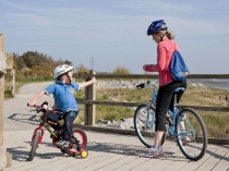 Picture of Cycling on the Millennium Coastal Path Llanelli