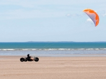 Picture of Kite Karting on Cefn Sidan Sands