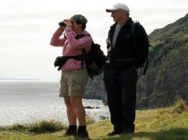 Picture of Walkers on the Wales Coastal Path at Pendine