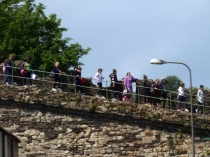 Picture of Crocodile of Children on Conwy Town Walls