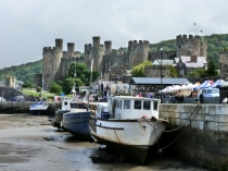 Picture of Conwy Castle and Quayside