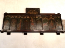 Picture of Medieval Painted Wooden Panels.