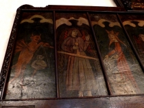 Picture of Detail of Medieval Painted Wooden Panels in Saint Elian's Church
