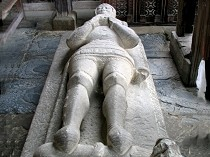 Picture of Stone Effigy of Hywel Coetmor