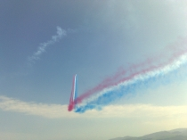 Picture of Red Arrows with Smoke from Beaumaris Beach