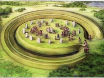 Picture of Henge at Bryn Celli Ddu